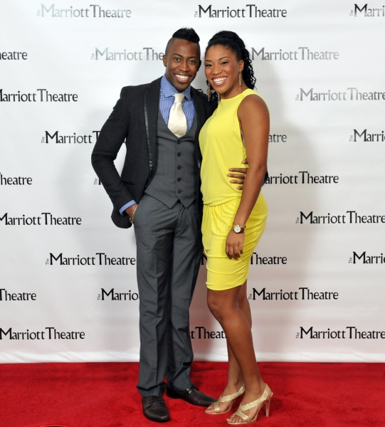 Eric LaJuan Summers and Rashidra Scott at Opening Night at The Marriott Theatre's DREAMGIRLS