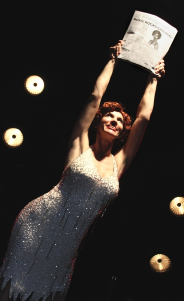 Roxie Hart (Deb Wims)  at CHICAGO at Beef & Boards Dinner Theatre
