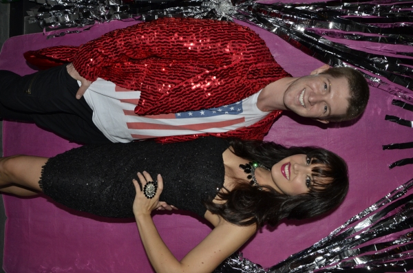 Eric Krop and Rachel Potter at Marty Thomas and Aubrey Mae Davis' GLITTER BALL Birthday Bash