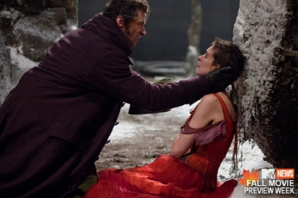 Hugh Jackman and Anne Hathaway at New Film Still of Hugh Jackman and Anne Hathaway in LES MISERABLES!