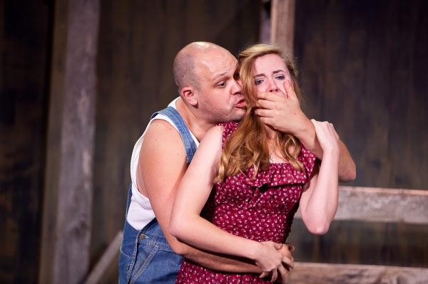 Alex Echevarria and Erin Shaughnessy (understudy) as Curley's Wife