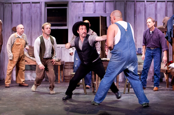 Jeff Rossman, James Hipp, Alex Vournazos as Curley, Alex Echevarria, and Jeff Solomon as Slim