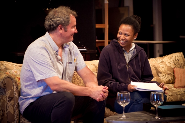 Keith Kupferer and ensemble member Alana Arenas  at First Look at Steppenwolf's GOOD PEOPLE in Rehearsal