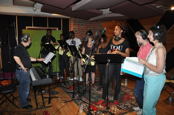 Peter Candela conduction the Cast of The Lion King-Derek Davis, Alan Wiggins, James A. Pierce III, Donna Doiron,Sheryl McCallum, Chondra L. Profit, Marion Mooney and Meryl Rosner