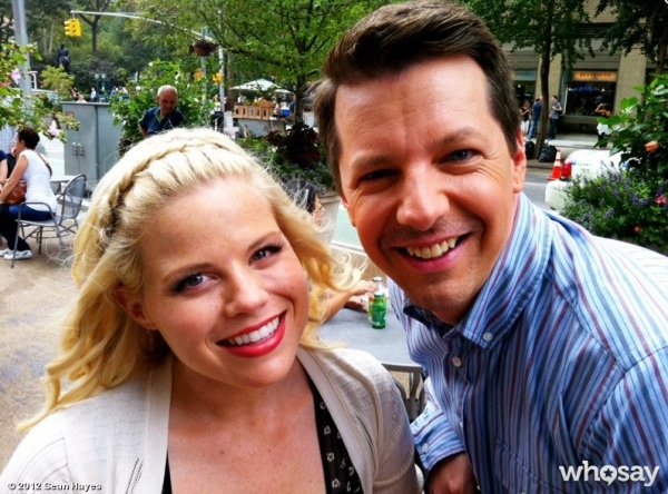 Photo Flash: First Look at Sean Hayes with Megan Hilty on SMASH Set!