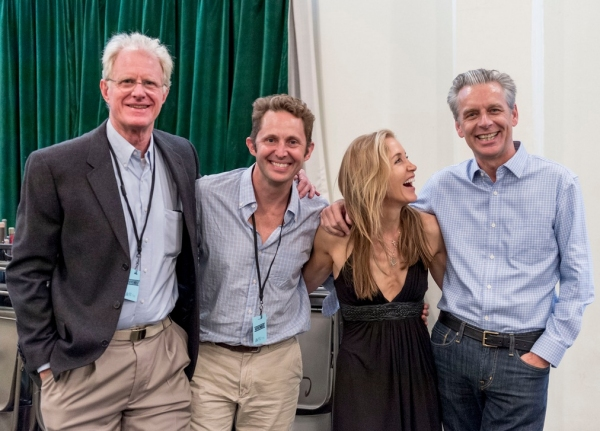 Photo Flash: Felicity Huffman, Ed Begley, Jr. in Rehearsal for CTG's NOVEMBER