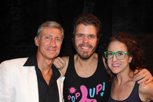 David Garrison, Perez Hilton and Jenn Harris at Perez Hilton Visits SILENCE! THE MUSICAL