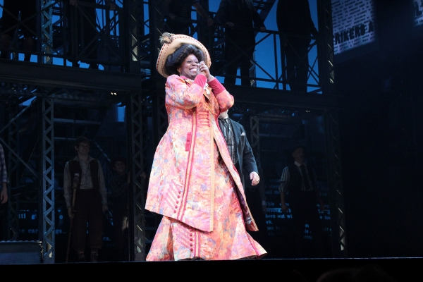 Capathia Jenkins at Corey Cott's First Curtain Call as 'Jack Kelly' in NEWSIES!