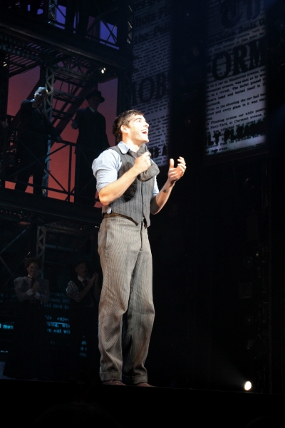 Photo Coverage: Corey Cott's First Curtain Call as 'Jack Kelly' in NEWSIES!