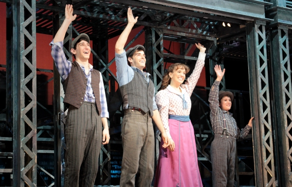 Ben Fankhauser, Corey Cott, Kara Lindsay, Lewis Grosso at Corey Cott's First Curtain Call as 'Jack Kelly' in NEWSIES!