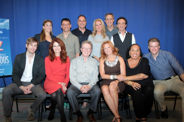 Back: Lorin Latarro, Joel Fram, David Armstrong, Kathie Lee Gifford, David Friedman, David Pomeranz, Front: Andrew Samonsky, Candy Buckley, George Hearn, Carolee Carmello, Roz Ryan, Edward Watts at Meet the Cast and Creative Team of SCANDALOUS!