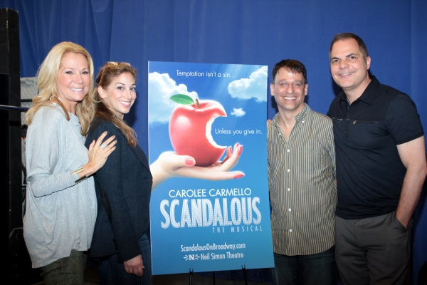Kathie Lee Gifford, Lorin Latarro, Joel Fram, David Armstrong at Meet the Cast and Creative Team of SCANDALOUS!