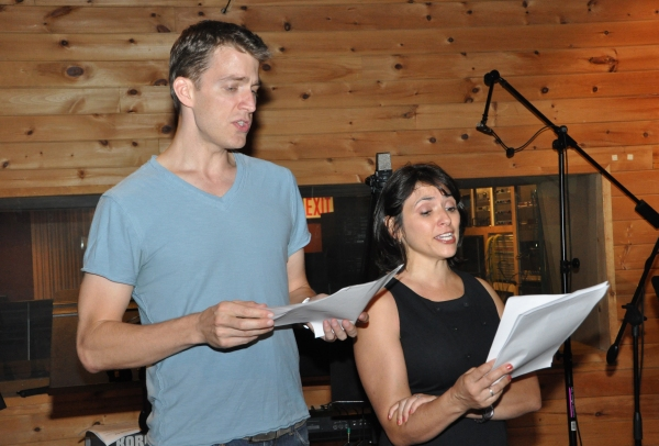 Benjamin Eakeley and Joanna Young at BWW Photo Exclusive: John W, Engeman Theater at Northport's I LOVE YOU, YOU'RE PERFECT, NOW CHANGE Records 'Carols for a Cure'