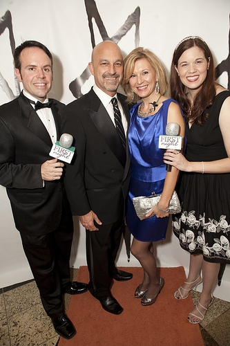 Hugh Britt, Ed Amatrudo, Luckie Westlund, Angela Gimlin at The 2013 First Night Honors Red (actually Orange) Carpet Arrivals