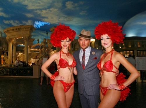 Showgirls from Jubilee! at Ballys Las Vegas join Caesars Palace headline entertainer  Photo
