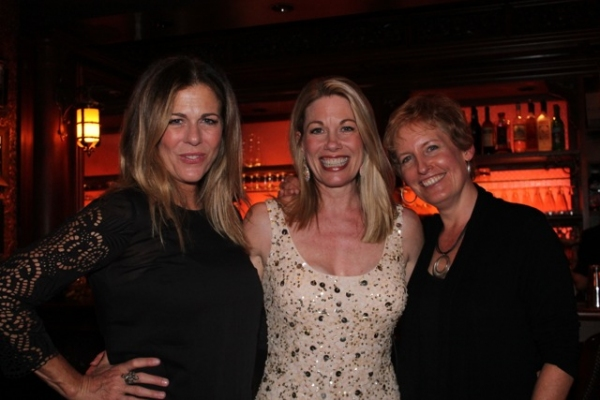 Rita Wilson, Marin Mazzie, Liz Callaway at Rita Wilson, Victor Garber Visit Marin Mazzie at 54 Below!