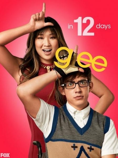 Jenna Ushkowitz, Kevin McHale at GLEE's 'Countdown to Season 4' Photo Shots