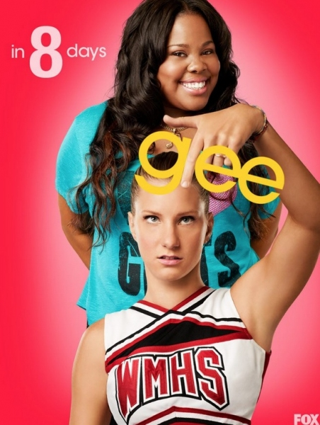 Amber Riley, Heather Morris at GLEE's 'Countdown to Season 4' Photo Shots