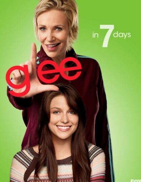 Jane Lynch, Melissa Benoist at GLEE's 'Countdown to Season 4' Photo Shots