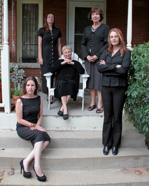 Clockwise L- R: Missy Moore, Abby Apple-Boes, Kerry Beebe, Lisa Kraai and (sitting center) Anne Oberbroeckling