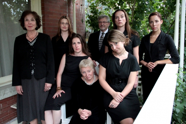 L – R: (back row) Kerry Beebe, Lisa Kraai, Wade Livingston, Abby Apple-Boes, Amanda Kowalski, Missy Moore, Anne Oberbroeckling and Christine Sharpe