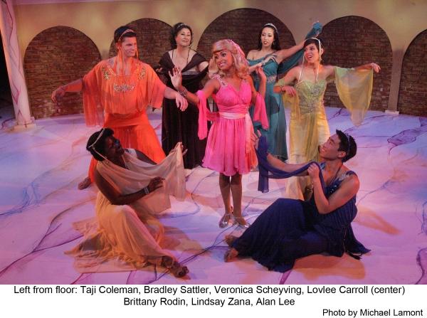 Taji Coleman, Bradley Sattler, Veronica Scheyving, Lovlee Carroll (center), Brittany Rodin, Lindsay Zana and Alan Lee