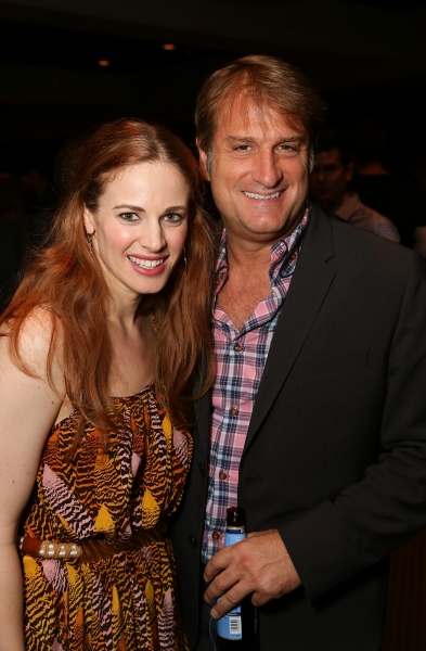 From left, Cast member Teal Wicks and Director/Choreographer Jeff Calhoun pose during the party for the opening night performance of 'Jekyll & Hyde' The Musical at the La Mirada Theatre for the Performing Arts on Saturday,  Aug. 8, 2012, in La Mirada, Cal at Photo Coverage Exclusive: JEKYLL & HYDE Tour Opening Night Curtain Call & Party - Maroulis, Cox, Wicks & More!