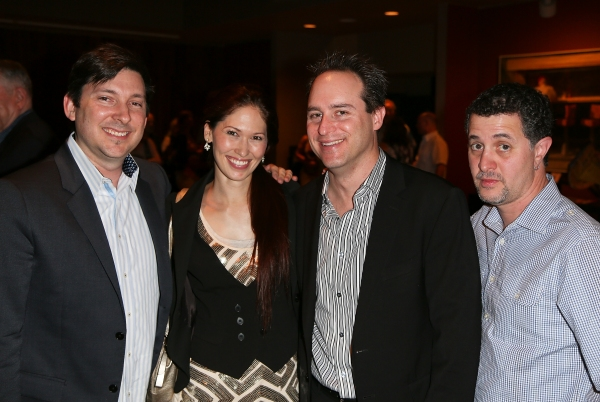 "From left, Jason Niedle, April Molina, Brian Kite, Producing Artistic Director La Mirada Theatre for the Performing Arts and Jeff Maynord pose during the party for the opening night performance of ""Jekyll & Hyde"" The Musical at the La Mirada Theatre for"