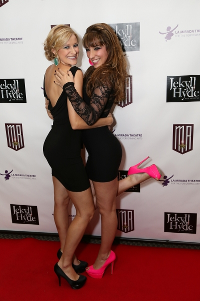 From left, Cast members Dana Costello and Ashley Loren pose during the party for the opening night performance of 'Jekyll & Hyde' The Musical at the La Mirada Theatre for the Performing Arts on Saturday, Aug. 8, 2012, in La Mirada, Calif. (Photo by Ryan  at Photo Coverage Exclusive: JEKYLL & HYDE Tour Opening Night Curtain Call & Party - Maroulis, Cox, Wicks & More!