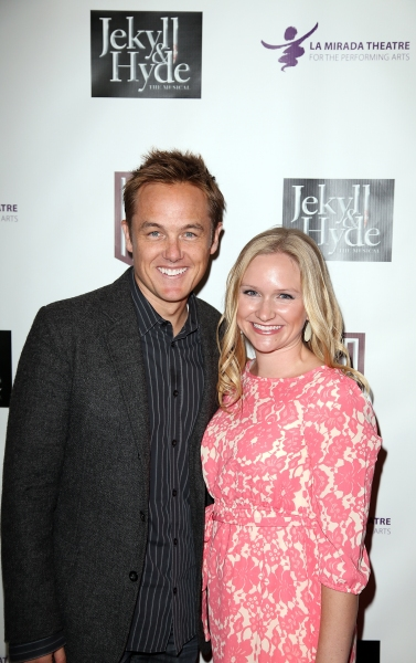 From left, actor Kevin Odekirk and Tiffany Oderkirk pose during the party for the op Photo