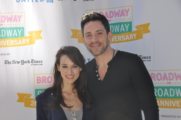 Elizabeth A. Davis and Steve Kazee at The Casts of BROADWAY ON BROADWAY - ANNIE, MOTOWN, SCANDALOUS, BARE and More!