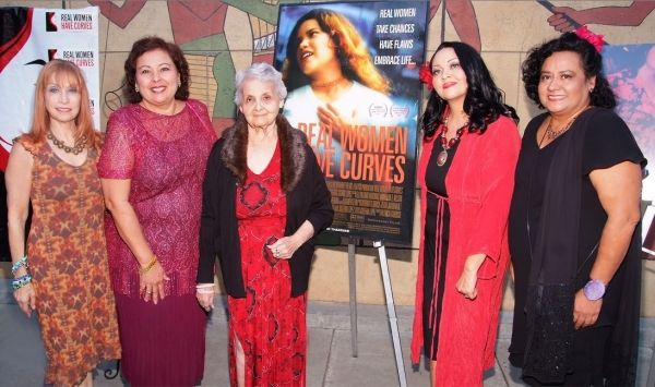 Marilyn R. Atlas, Soledad St. Hilaire, Sandy Torres, Josefina López and Ingrid Oliu at Josefina Lopez and More at 10th Anniversary Celebration of REAL WOMEN HAVE CURVES