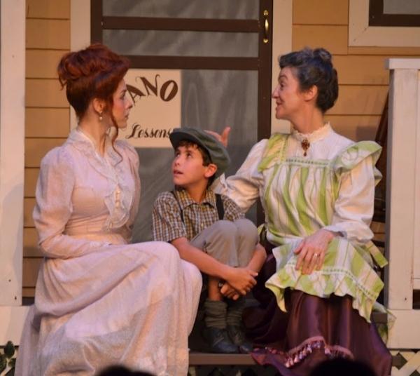 Katie Weigl as Marian, Justin Landsman as Winthrop and Paula O'Brien