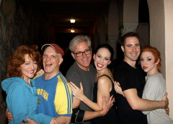 Cynthia Ferrer, Eddie Korbich, David Engel, Gail Bennett, James Blashaw and Adrianna Lyons at 3-D Theatricals Opens Irving Berlin's I LOVE A PIANO