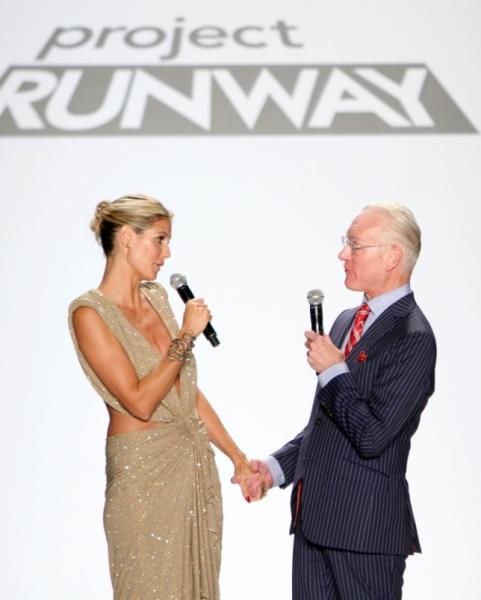 Heidi Klum, Tim Gunn at Jennifer Hudson Judges PROJECT RUNWAY Season Finale
