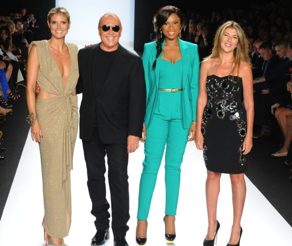 Heidi Klum, Michael Kors, Jennifer Hudson, Nina Garcia at Jennifer Hudson Judges PROJECT RUNWAY Season Finale