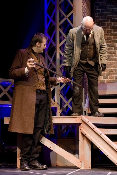 Chip Simmons as Sherlock Holmes and Brad Zimmerman as Sid Prince