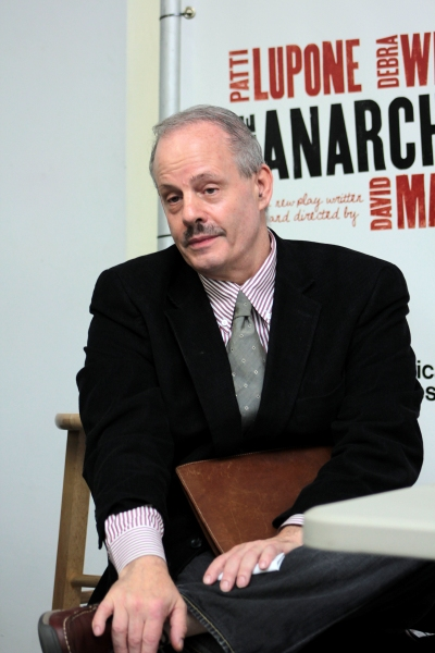 Jeffrey Richards at THE ANARCHIST's Patti LuPone and Debra Winger Meet the Press!