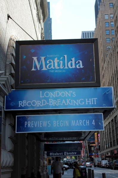 Up on the Marquee: MATILDA!