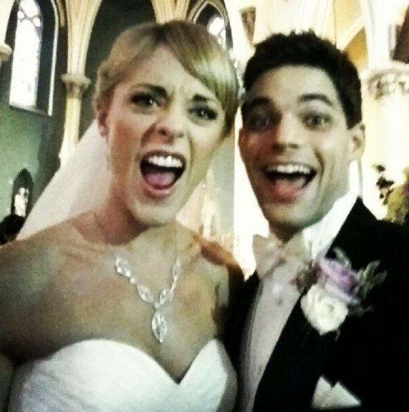 Ashley Spencer, Jeremy Jordan at Jeremy Jordan and Ashley Spencer Tie the Knot!