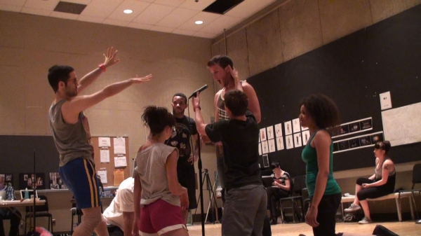 Choreographer Chase Brock at Sneak Peek at KC Rep's PIPPIN - Rehearsal Shots!