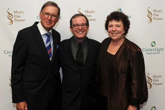 VH1 President Tom Calderone, recipient of the 2012 Music Has Power AwardÂ�® from the Institute for Music and Neurologic Function (IMNF) is flanked by IMNF Board Chairman Ed Stern (L) and IMNF Executive Director and co-founder Dr. Concetta Tomaino (R). T