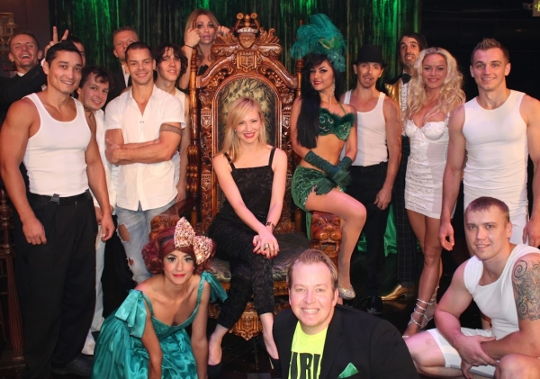Photo Flash: LEVERAGE's Beth Riesgraf Visits ABSINTHE