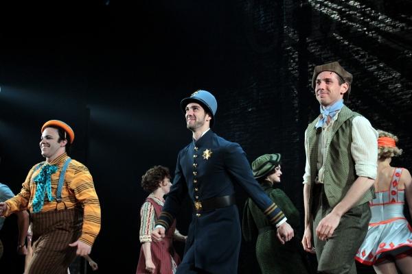 Michael Mendez, Timothy Hughes, Ian Liberto at CHAPLIN Opening Night Curtain Call on Broadway!