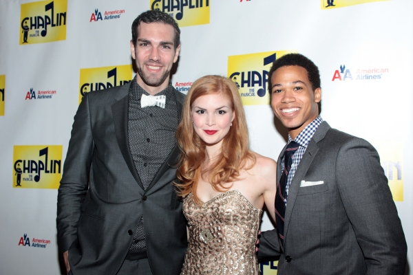Timothy Hughes, Emily Tyra, Adam Rogers at CHAPLIN Opening Night Party - Check Out the Cast!