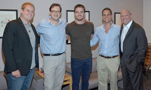 Rob Moynihan, Andrew Kreisberg, Stephen Amell, Greg Berlanti and Marc Guggenheim at Berlanti, Amell at Paley 