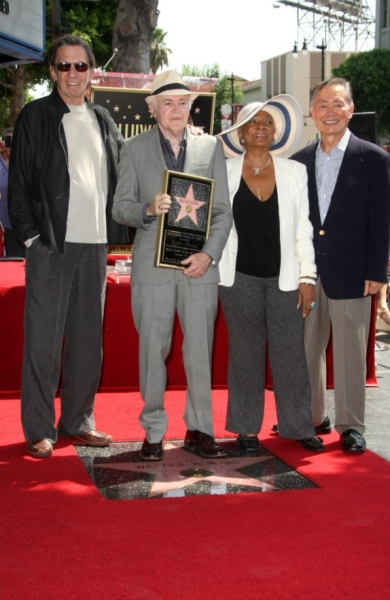 Leonard Nimoy, Walter Koenig, Nichelle Nichols and George Takei at STAR TREK Cast Honors Walter Koenig on Walk of Fame