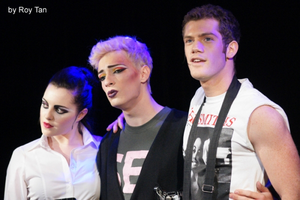 Niamh Perry, Matthew Rowland and Alistair Brammer Photo
