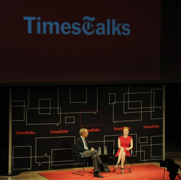 Photo Flash: THE HEIRESS' Jessica Chastain Visits TimesTalks!