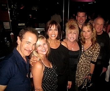 left to right: Jason Graae, Lindsay Ridgeway, Joan Ryan, Rita McKenzie, Lea Thompson, Michael Orland, Bruce Kimmel